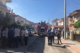 Karaman'da çıkan yangında evin büyük bölümü kullanılamaz hale geldi