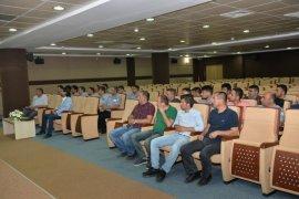 KMÜ'de işçi kadrosuna geçen güvenlikçilere sosyal hakları anlatıldı