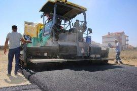 Karaman Belediyesi, Laren'de Mahallesinde asfalt çalışmalarını tamamlıyor