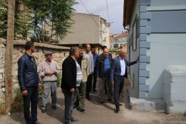 Başkan Çalışkan, Abbas Mahallesinde incelemelerde bulundu