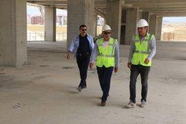 Başkan Çalışkan, yeni stadyum inşaatında incelemelerde bulundu