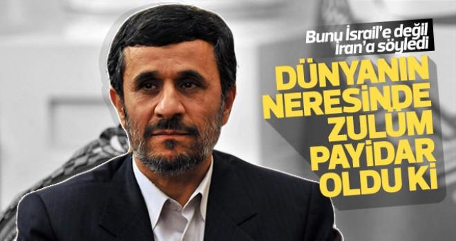 Ahmedinejat'tan kendi ülkesine tepki