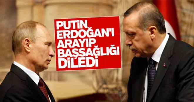 Putin Erdoğan'ı aradı başsağlığı diledi