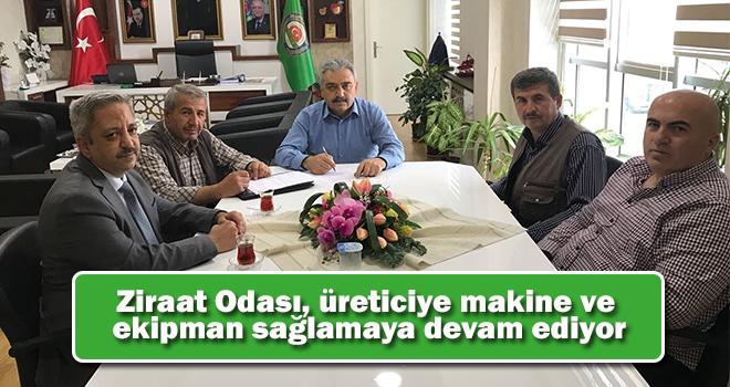 Karaman'da Ziraat Odası, üreticiye makine ve ekipman sağlamaya devam ediyor