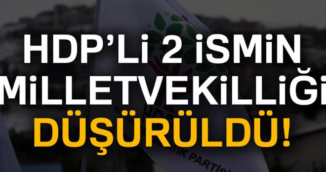 HDP'li Baydemir ile Selma Irmak'ın milletvekilliği düşürüldü