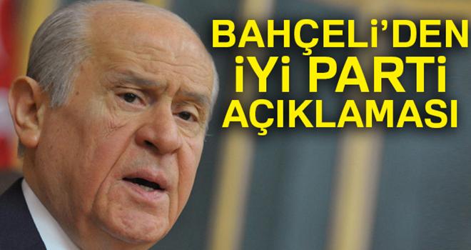 MHP Genel Başkanı Devlet Bahçeli'den İyi Parti değerlendirmesi