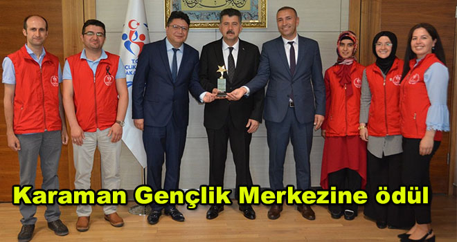 Karaman Gençlik Merkezine ödül