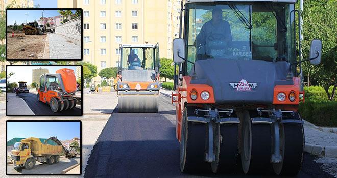 Karaman'da asfalt çalışmaları sürüyor