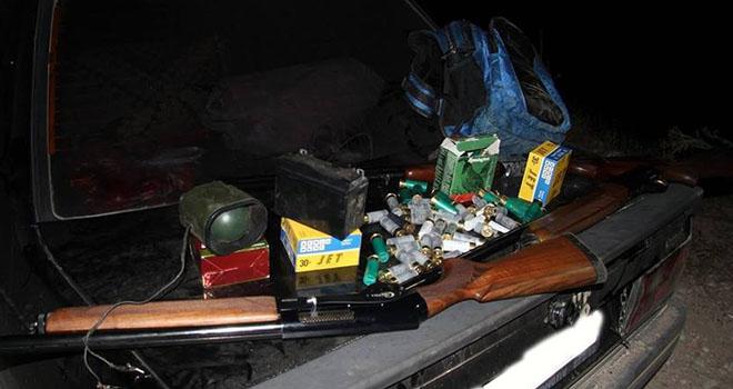 Karaman'da teyple bıldırcın avlayan 2 kişi yakalandı