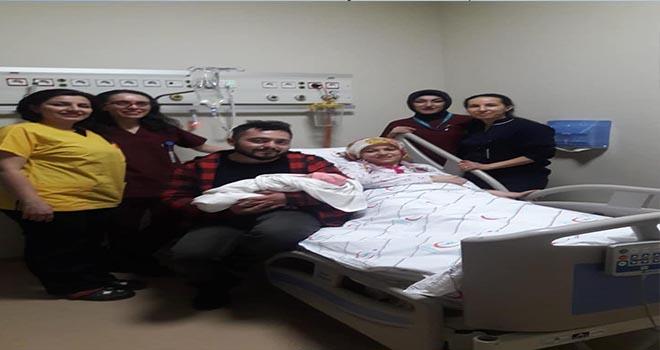Karaman'da yeni yılın ilk bebeği Elif oldu