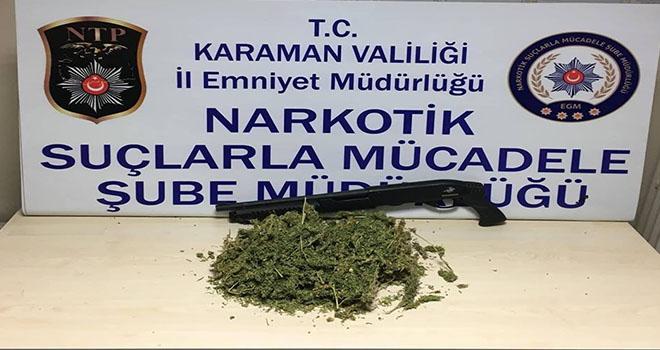 Karaman'da esrar operasyonu: 2 şahıs adliyede