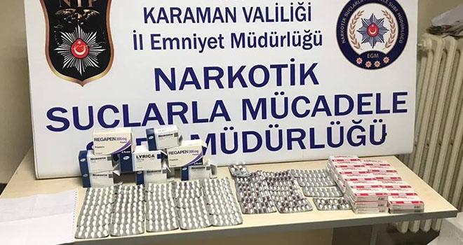 Karaman'da eczacı kalfası reçete ile verilen hapları satarken yakalandı