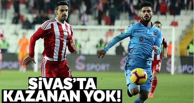 Sivas'ta kazanan çıkmadı | Sivasspor - Trabzonspor kaç kaç?