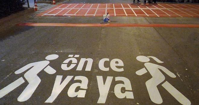 Karaman Belediyesinden 'önce yaya' çalışması