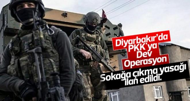Diyarbakır'da PKK'ya dev operasyon
