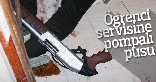 Öğrenci servisine pompalı pusu kuran kişi intihar etti