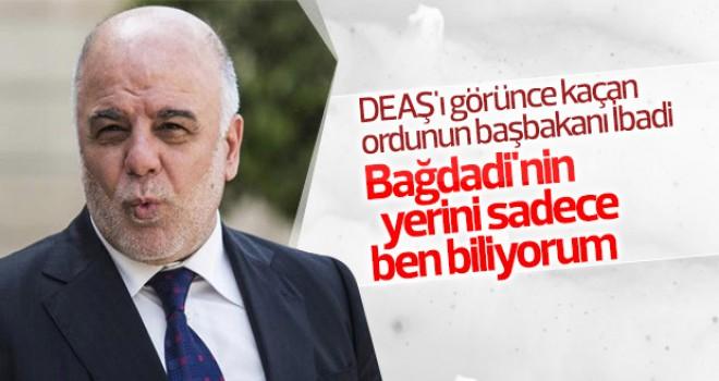 Irak Başbakanı Bağdadi'nin yerini bildiğini söyledi