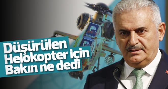 Binali Yıldırım: 'Helikopterin düşürüldüğüne dair belirti yok'