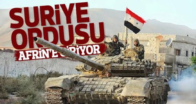 Suriye ordusu Afrin'e giriyor