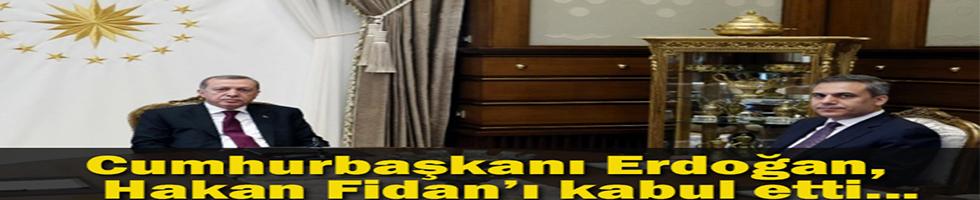 Cumhurbaşkanı Erdoğan, Hakan Fidan'ı kabul etti...