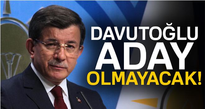 Ahmet Davutoğlu: 'AK Parti dışında hiç bir siyasi hareket içinde bulunmam'