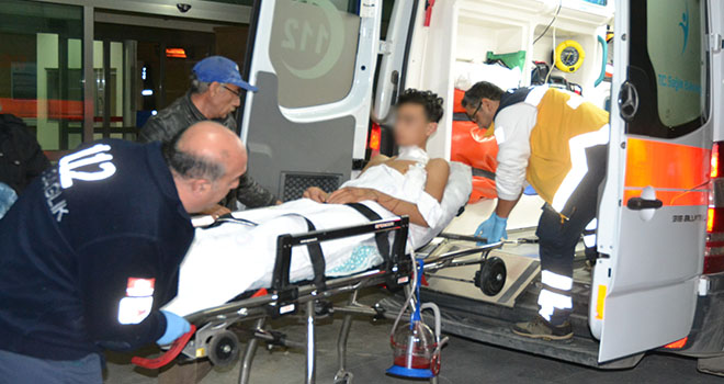 Dur ihtarına uymadı, seken kurşunla omuzundan yaralandı