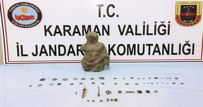 Karaman'da tarihi eser operasyonu: 3 gözaltı