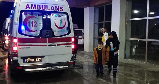 Karaman'da trafik kazası: 3'ü çocuk 6 yaralı