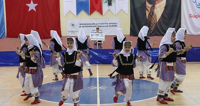 Karaman'da okullararası halk oyunları il birinciliği yarışması sona erdi