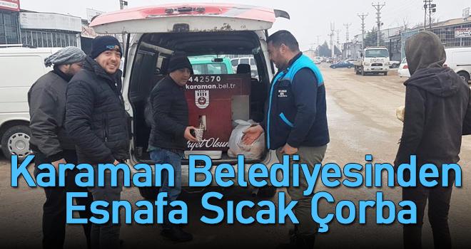 Karaman Belediyesinden Esnafa Sıcak Çorba